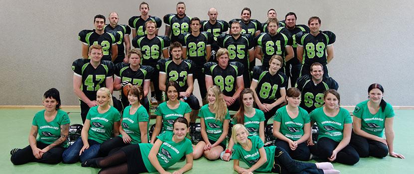 Gruppenfoto des gesamten Teams der Pongau Ravens